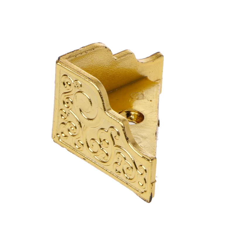 Drop Shipping 20PCS Gold Jewelry Box Wood Case Decorative Feet Leg Corner Protector Furniture
