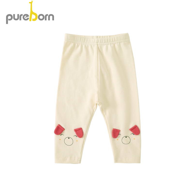 Pureborn Toddler Baby Girl Pants Cotton Cartoon Puppy Snug-Fit Fashion Pants Trousers Leggings Spring Autumn Trousers Bottoms