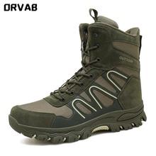 2021 nowe buty wojskowe usa dla mężczyzn buty wojskowe wysokiej jakości stado piechoty buty taktyczne Outdoor antypoślizgowe buty wojskowe armii tanie tanio ORVAB Desert Boots CN (pochodzenie) Flock Połowy łydki Stałe Dla dorosłych Cotton Fabric Okrągły nosek RUBBER Wiosna jesień