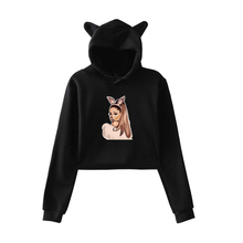 купить 2019 New Ariana Grande Print Hoodies Women Sweatshirt Character Cute Hooded Long Sleeve Autumn Tops Crew Neck Sweetener Clothing дешево