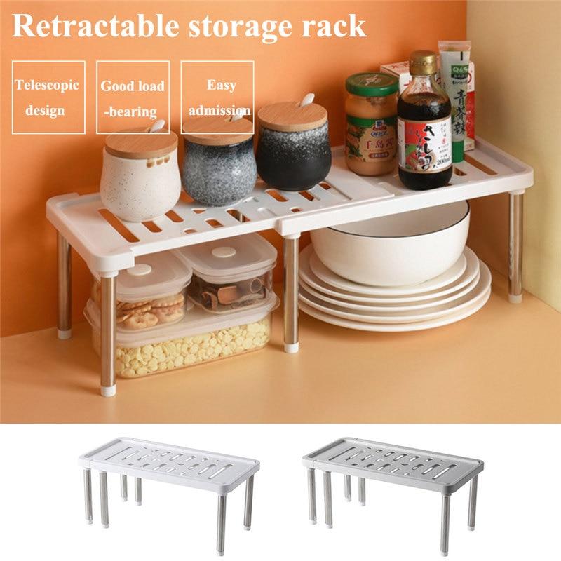 etagere de rangement extensible armoires de cuisine supports placard organisateur empilable etagere de rangement pour cuisine salle de bain sous evier