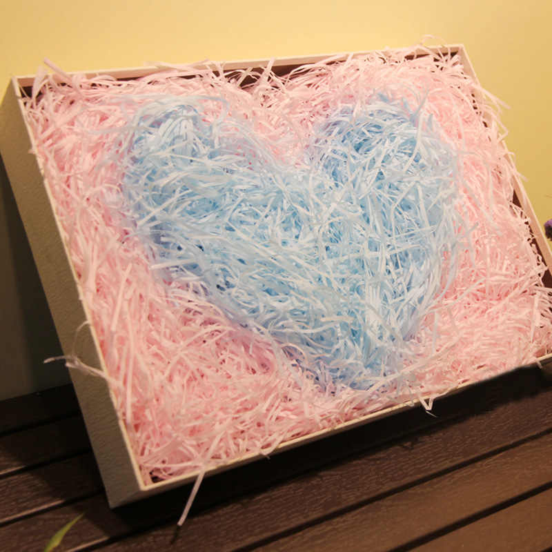 20g ต่อกระเป๋าที่มีสีสันหั่นกระดาษ Crinkle Raffia กล่องขนม DIY ของขวัญกล่องบรรจุวัสดุกระดาษทิชชู PARTY ของขวัญบรรจุภัณฑ์ FILLER