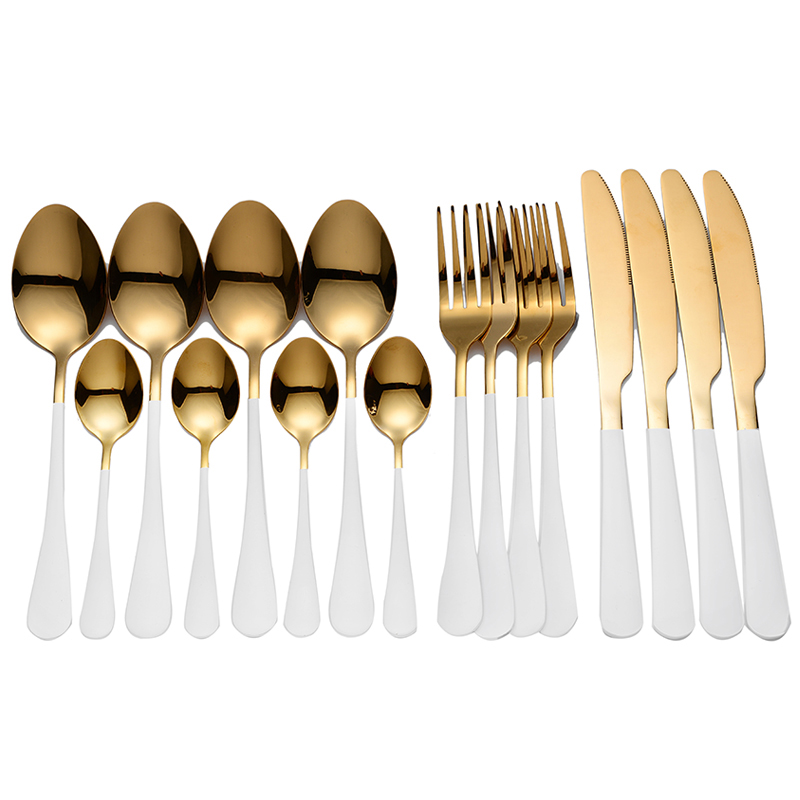 Tablewellware Stainless Steel Cutlery Set Rainbow Tableware Home Kitchen Fork Spoon Knife Spoon Set Dinnerware Set Dropshipping
