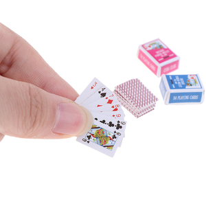Cute 1:12 Miniature Games Poker Mini Dollhouse Playing Cards Miniature For Dolls Accessory Home Decoration
