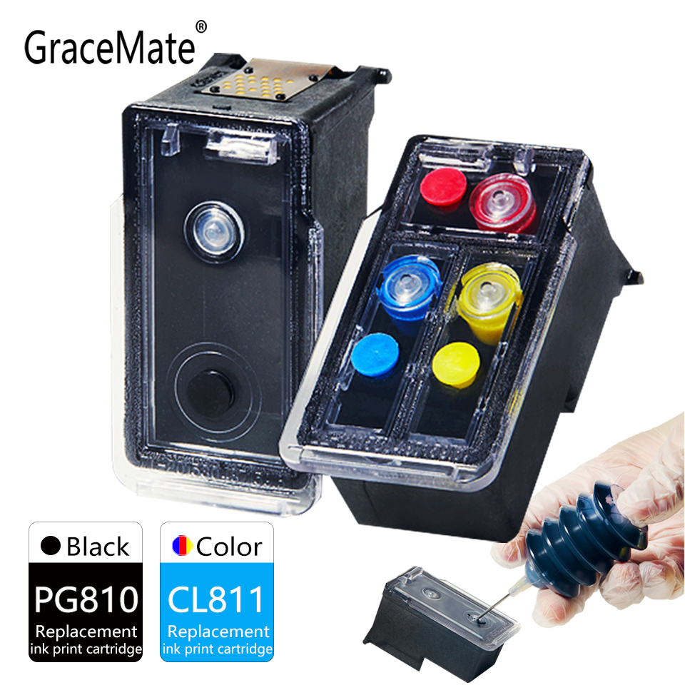 GraceMate Ink Cartridge Replacement for Canon PG810 CL811 MP237 MP245 MP258 MP268 MP276 MP287 MP486 MP496 MP497 MX416 Printer image