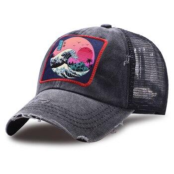 Dragon Ball Z Print Baseball Caps Sunscreen Unisex Snapback Anime Hat Summer Adjustable Riding Hats Outdoor Mesh Cap