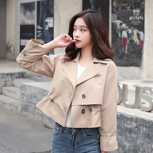 2020 new Spring Autumn Women Jacket fashion Lapel Outwear women Loose Coat female Single-breasted Windbreaker tops
