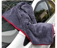 منشفة غسيل السيارة من الألياف الدقيقة ، فائقة النعومة ، 60 × 90 سنتيمتر ، 900GSM ، قماش العناية بالسيارات ، 1/2 قطعة