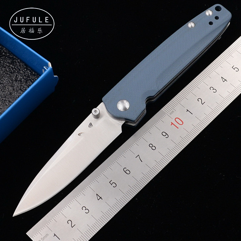 JUFULE Brand 485 D2 steel Blade G10 handle Copper washer folding Fruit kitchen camping Pocket Survival hunting EDC Tool knife image