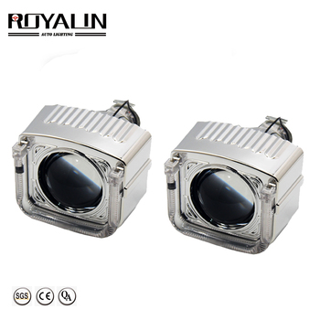 ROYALIN Mini HID Projector Bixenon Lens H1 Car Styling DRL Angel Eyes For H1 H4 H7 Auto Head Lamp Retrofit
