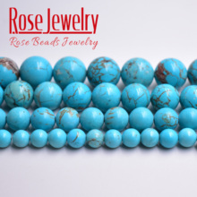цена Free shipping Natural Stone Green Turquoises Round Loose Smooth Beads 15