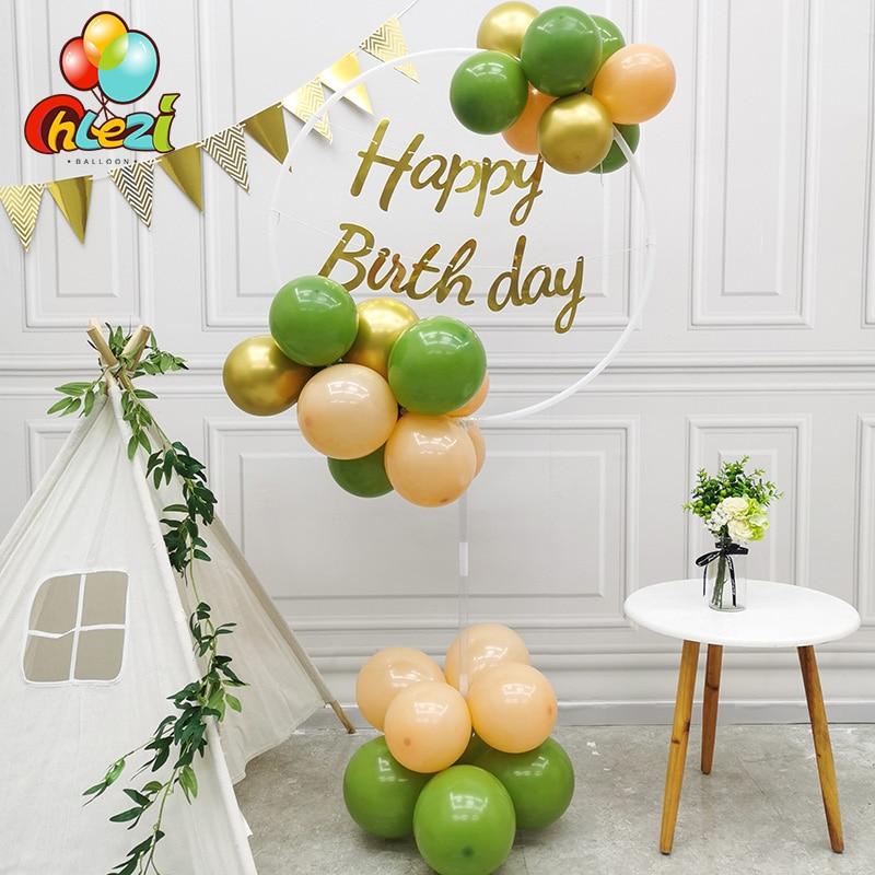 Balloon Air Ring Column Bracket Round Balloon Stand Arch Macaron Metallic Latex Ballon Wedding Decor Birthday Party Baby Shower