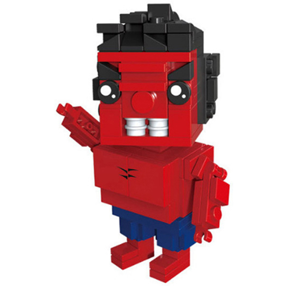 Rocky Wonder Woman Iron Man Robin Spider-Man Thor Superhero Brickheadz Building Blocks headz bricks Toys