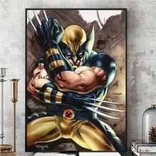 Póster de cómic de Wolverine Retro Xmen e impresiones en lienzo pintura cuadros de pared para Living Room Vintage Poster decorativo decoración del hogar