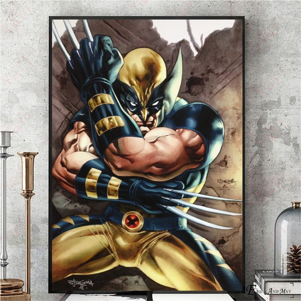 Retro Xmen Wolverine Comic Posters And Prints Canvas Painting Wall Pictures For Living Room Vintage Poster Decorative Home Decor image