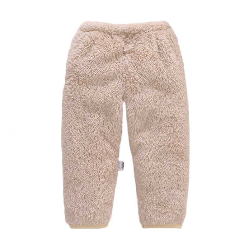 Newborn Baby Boys Pants Winter Warm Baby Girls Pants Fleece Solid Newborn Pants Fashion Baby Toddler Trousers Baby Clothes