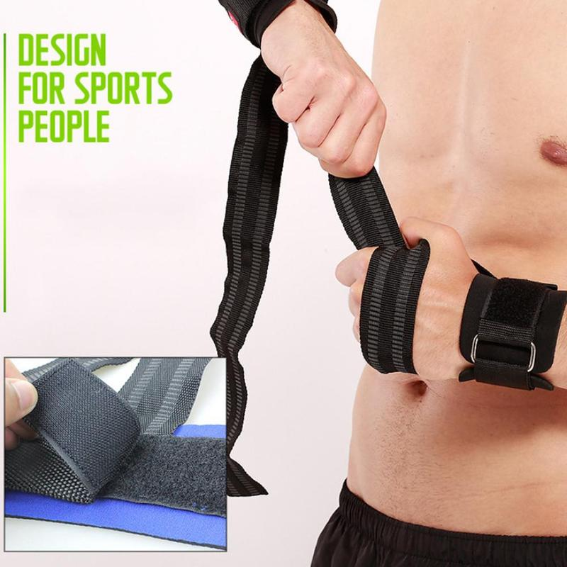 2pcs Sports Power Belt Lifting Straps Weightlifting Wrist Weight Belt Bodybuilding Gloves For Fitness Barbells Power Sport
