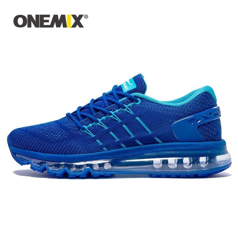ONEMIX Men Air Running Shoes Unique Tongue Design Breathable Cushion Sport Shoes Big Size 47 Outdoor