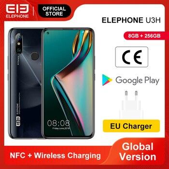 Перейти на Алиэкспресс и купить В наличии ELEPHONE U3H восьмиядерный смартфон 8 Гб 256 ГБ 6,53 дюймFHD + экран 48MP IMX586 задняя камера 24MP селфи лицо Android 9