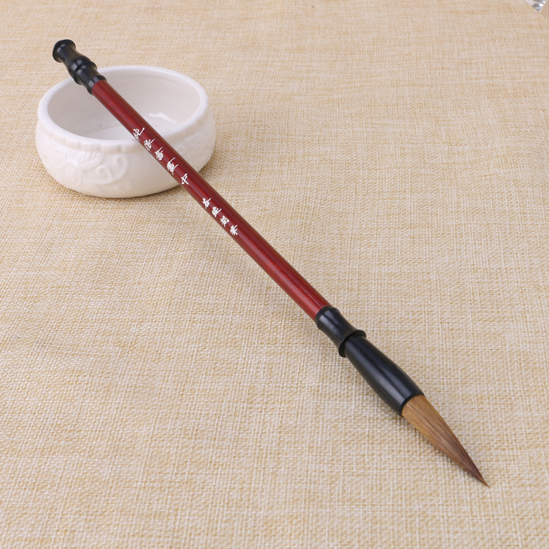 2019 New 1PC Chinese Calligraphy Brushes Pen Wolf Hair Writing Brush Wooden Handle Size M Whosale&Drosphip