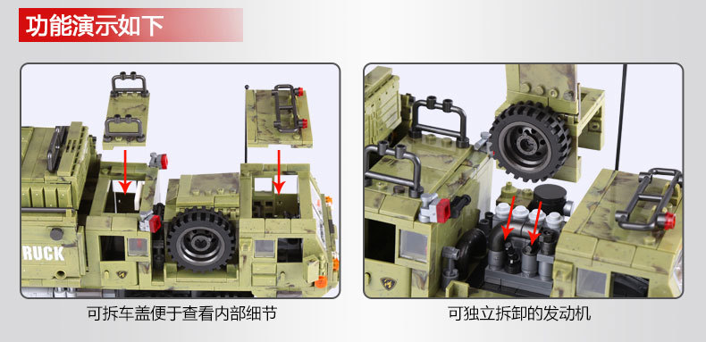 1377Pcs XINGBAO Building Blocks Toys легоe military 06014 Cross The Battlefield Series Bricks Truck Model Gift for Children 4PX 17