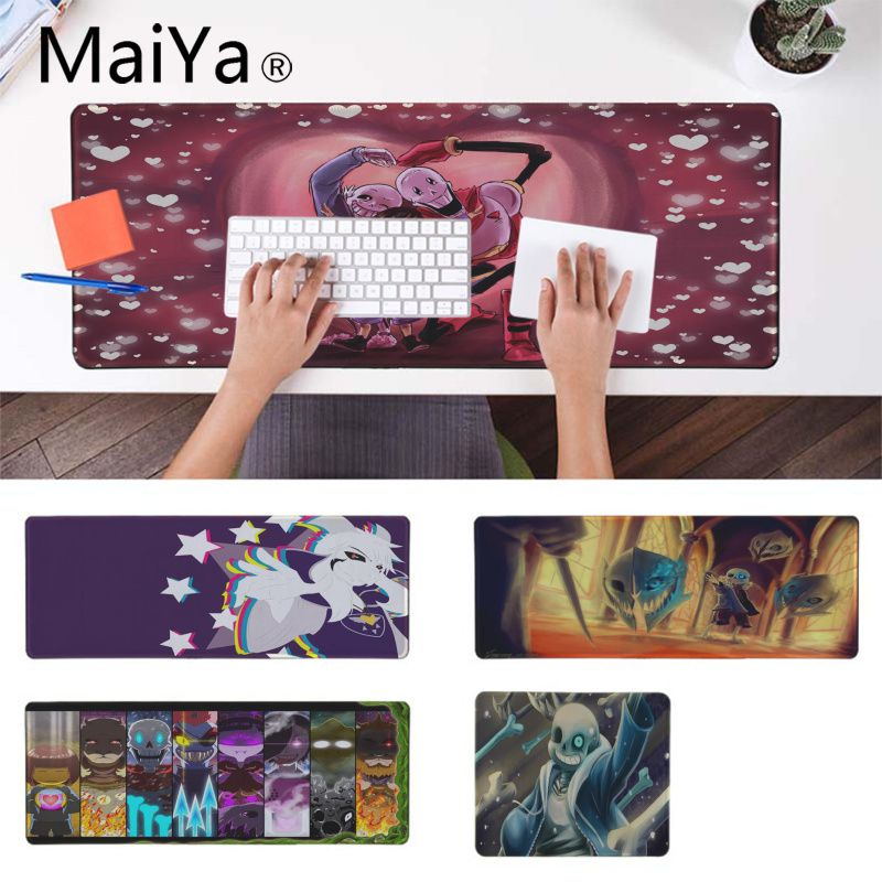MaiYa Undertale Beautiful Anime Mouse Mat Speed/Control Version Large Gaming Mouse Pad Anime Mousepad