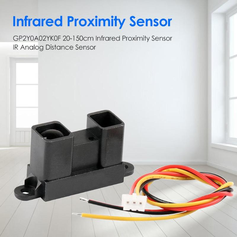 GP2Y0A02YK0F 20-150cm Range Infrared Proximity Sensor Voltage Analog Signal IR Analog Obstacle Avoidance Distance Sensor