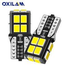 Oxilam 2 pçs w5w t10 led canbus nenhum erro 194 168 lâmpada do carro led interior luzes para audi bmw mercedes leitura cúpula tronco lâmpada 6000k