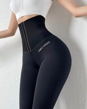 High Waist Compression Leggings Butt Lifter Fitness Shapewear Slim Tummy Control Pants Push Up Running leggings 1