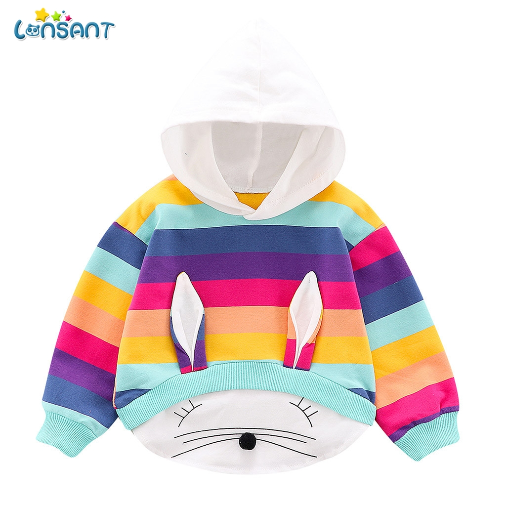 LONSANT New Spring Autumn Baby Boy Girl Clothes Cotton Hooded Sweatshirt Children Kids Casual Infant Leisure Clothing N30 1