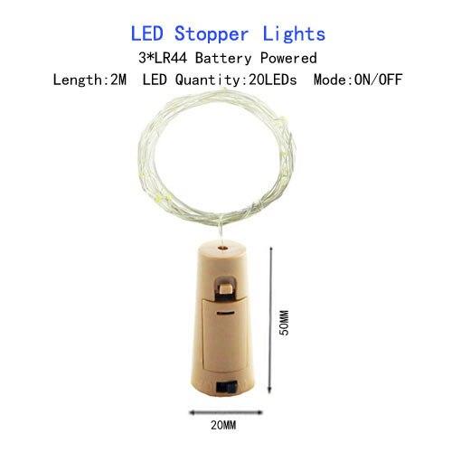 1/2/5/10 M Медный провод светодиодные огни строки праздник освещение гирляндой Рождественский венок для год свадебная вечеринка украшения - Испускаемый цвет: LR44 Battery-2M
