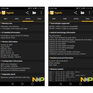 Image 4 - 50 teile/los NTAG215 NFC Aufkleber Tag Für TagMo Durchmesser 25mm Label Forum Type2 Aufkleber Label