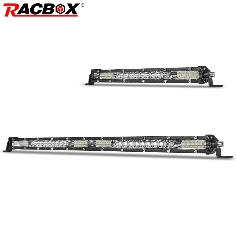 RACBOX <font><b>10</b></font> 20 <font><b>30</b></font> inch Ultra Slim LED Light Bar Combo For Jeep UAZ Tractor 4x4 Truck Boat SUV ATV UTV 12V 24V Car Retrofit Styling image