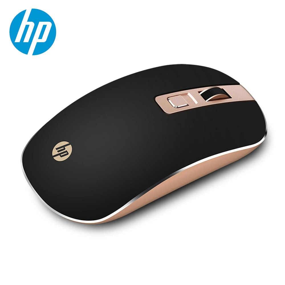 HP 2.4GHz kablosuz sessiz fare taşınabilir ince fare ayarlanabilir 1600dpi  kablosuz fare dizüstü PC bilgisayar optik fareler|Mice