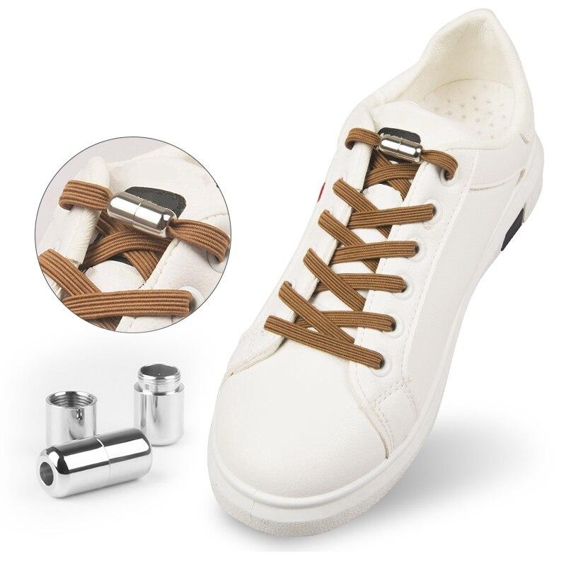1Pair Flat Elastic Locking Shoelace No Tie Shoelaces Special Creative Kids Adult Unisex Sneakers Women Men Shoes Laces Strings