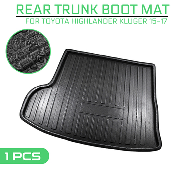 Car Floor Mat Carpet Rear Trunk Anti-mud Cover For Toyota Highlander Kluger 2015 2016 2017 image