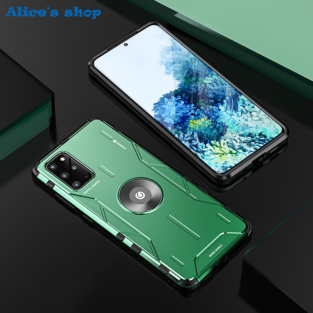 Full Protection Shockproof Hybrid Silicone Aluminum Metal Case For Samsung Galaxy S20/ Plus/ Ultra Luxury Armor Hard Cover Case