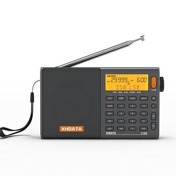 XHDATA D-808 Portable Digital Radio FM Stereo/SW/MW/LW SSB AIR RDS Multi Band Radio Speaker with LCD Display Alarm Clock  Radio 1