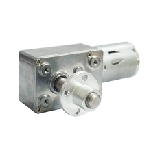 High Torque Worm Gear Motor 8mm*33mm Output Screw Shaft with Screw Flange DC 6v 12v 24v 2RPM to 150 RPM Metal Gearmotors