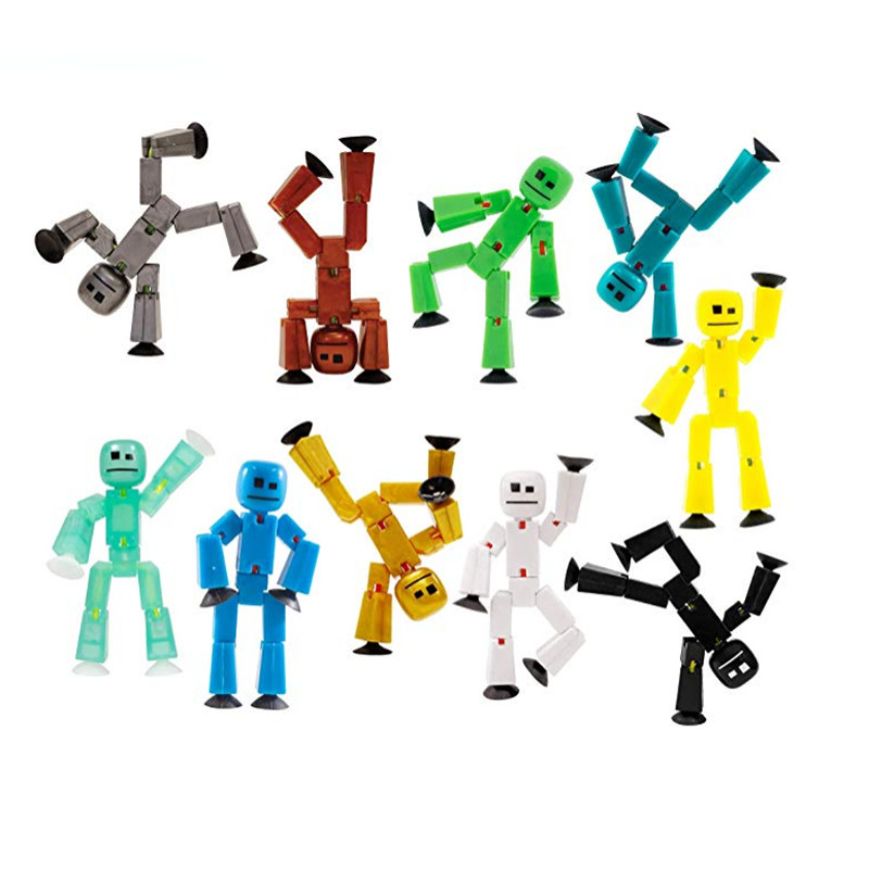 1PC Sucker Kawaii Anima Figure In Action Figure Suction Cup Funny Deformable Sticky Robot Toys