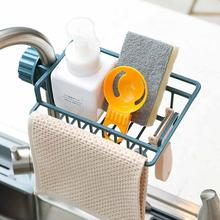 Kitchen Hot Sink Hanging Storage Rack Holder Faucet Clip Bathroom Kitchen Dishcloth Clip Shelf Drain Dry Towel Organizer