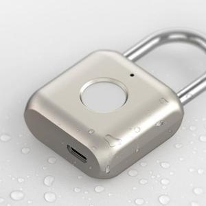Image 4 - Youpin الذكية بصمة قفل كيتي USB مقاوم للماء قفل البصمة الالكتروني المنزل مكافحة سرقة حقيبة أمتعة قفل أمان