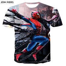JOH FIERS Spiderman 3D Print t shirts Men Compression fitness Superhero Tops costume Short Sleeve Fitness T-shirts