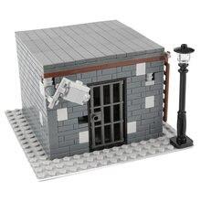 Moc cidade casa blocos de construção cidade, polícia, soldados, figuras, arma, peças, acessórios, tijolos, brinquedos para crianças