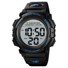 SKMEI japońska bateria męska cyfrowy zegarek 50M wodoodporny podświetlenie LED duża tarcza zegarek na rękę Sport Wrist Watch montre homme 1562