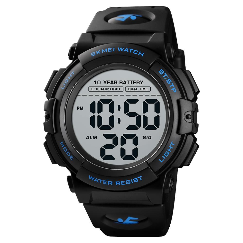 Relógio de Mão Relógio de Pulso m à Prova Skmei Japonês Bateria Relógio Digital Masculino 50 Dwaterproof Água Led Backlight Grande Dial Esporte Montre Homme 1562