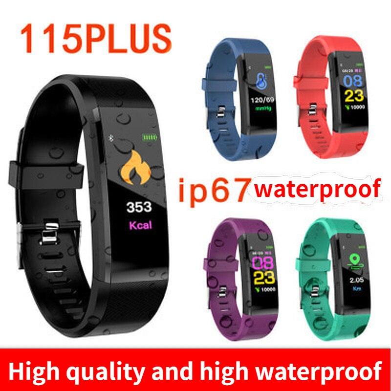 New ID115 Plus Children's Watches Kids LED Digital  Running Sport Watch For Boys Girls Men Women Electronic Sport Bracelet Clock