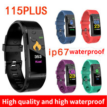 New ID115 Plus Children's Watches Kids LED Digital Running Sport Watch For Boys Girls Men Women Electronic Sport Bracelet Clock(China)