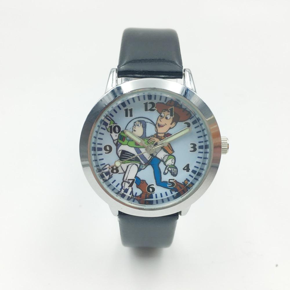 Fashion Cartoon Character Cowboy Woody Astronaut Buzz Lightyear Kids Boys Quartz Watches Student Luminous Waterproof Watch Reloj