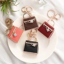 Fashion Popular Custom Creative Leather Mini Bag Keychain Automobile Hanging Ornament Small Gift Generation